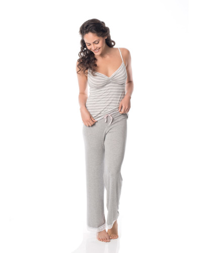 Sweet-stripe-cami-and-love-me-lace-pyjama-pants