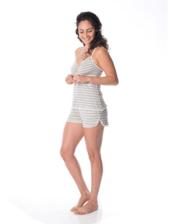 Sweet- Stripe-Jogger-Sleep-Shorts