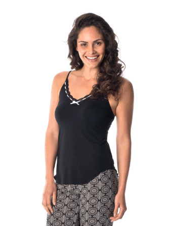 black and white camisole