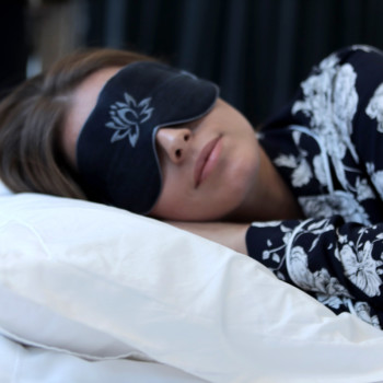 hemp/silk eye mask