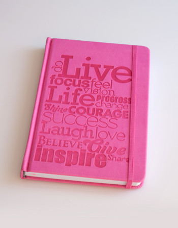 Bright pink journal