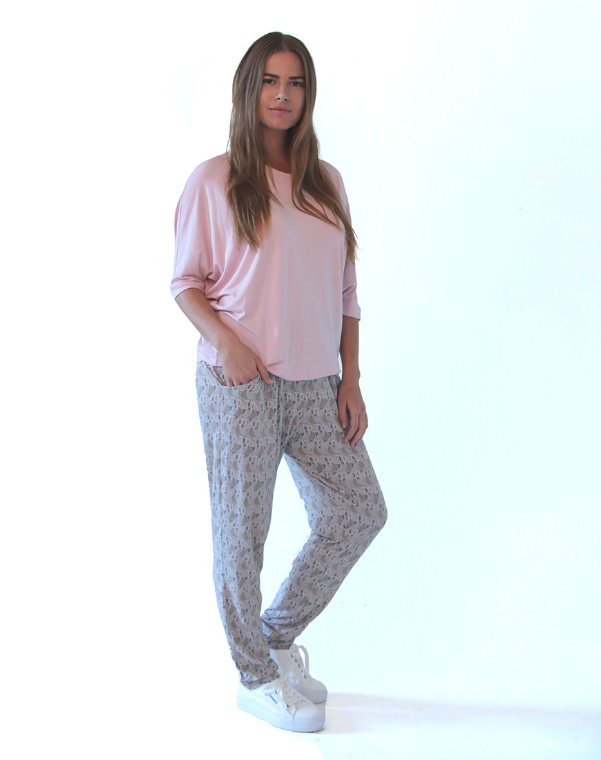 pink Annie top and pants