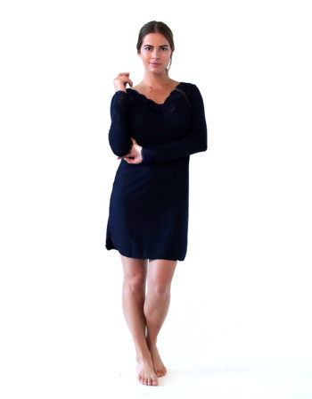 Gina sleepshirt, navy nightdress